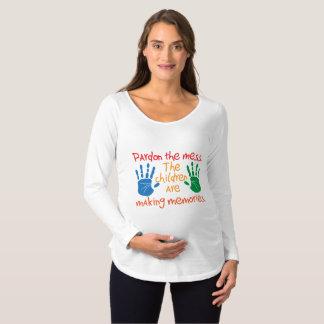 Camiseta Para Gestantes Pardon a confusão que as crianças estão fazendo