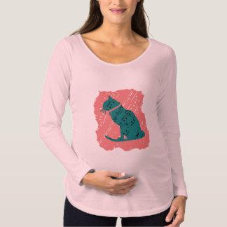 Camiseta Para Gestantes Parte superior gráfica tão legal do gato/parte