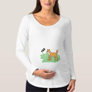 Camiseta Para Gestantes raposa no campo