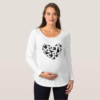 Camiseta Para Gestantes Seção da maternidade da parte superior da gravidez