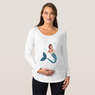 Camiseta Para Gestantes Sereia
