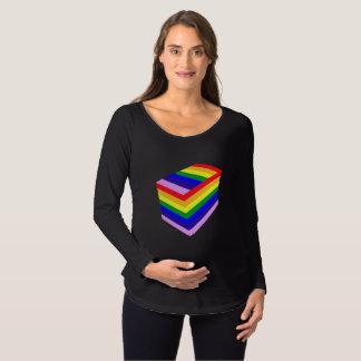 Camiseta Para Gestantes t-shirt longo de maternidade da luva da caixa do