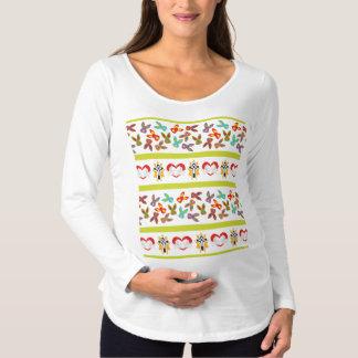 Camiseta Para Gestantes Teste padrão psicótico da páscoa colorido