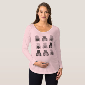 Camiseta Para Gestantes Tshirt de maternidade da gravidez com ursos de