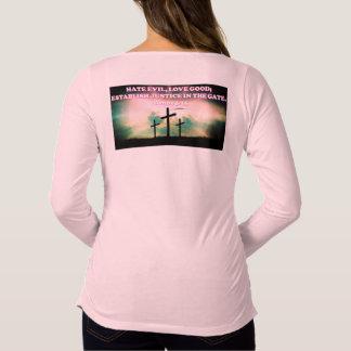 Camiseta Para Gestantes Verso da bíblia do 5:15 dos Amos.