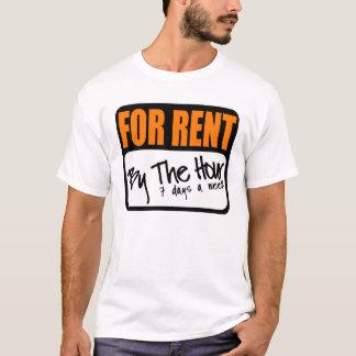 Camiseta para o aluguel à hora