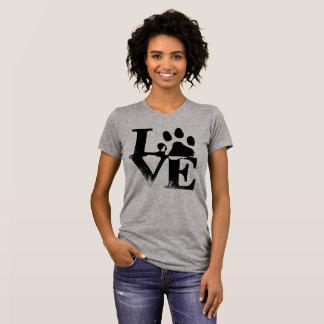 Camiseta Para o amor do amor do impressão da pata do 🐾 dos