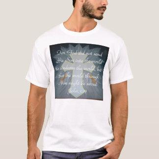 Camiseta Para o deus não enviou seu filho em t…