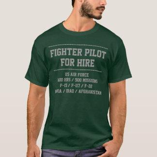 Camiseta para o piloto de caça do aluguer personalize o