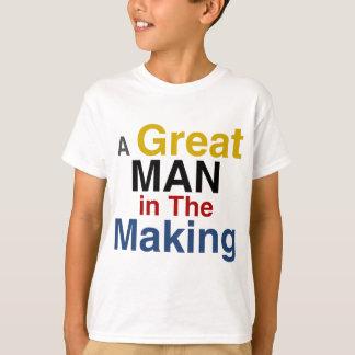 Camiseta para os meninos e os miúdos - um grande homem no