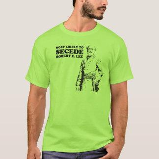 Camiseta Para secede muito provavelmente: Robert E. Lee