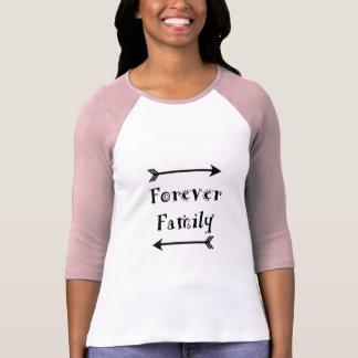 Camiseta Para sempre família - design de Adpotion