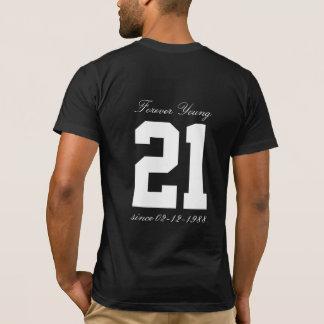 Camiseta Para sempre idade engraçada do aniversário dos