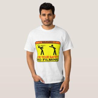 Camiseta Para sua segurança, nenhum película