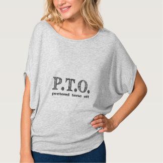 Camiseta Parabéns promovidos para fingir fora o tempo