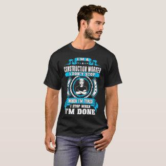 Camiseta Parada do trabalhador da construção quando Tshirt