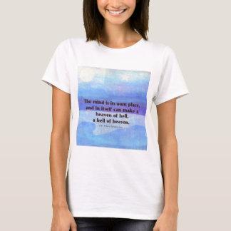 Camiseta Paraíso inspirado das citações de Milton perdido