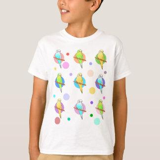 Camiseta Parakeets & teste padrão de bolinhas