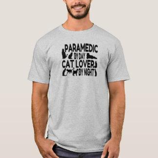 Camiseta Paramédico do amante do gato