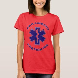 Camiseta Paramédico do sapador-bombeiro
