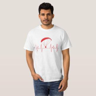 Camiseta parapente da pulsação do coração
