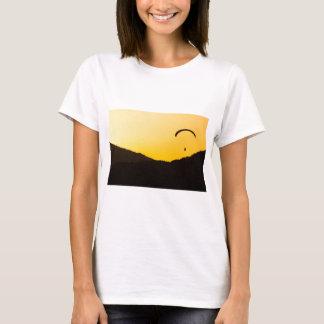 Camiseta parapente-em-por do sol