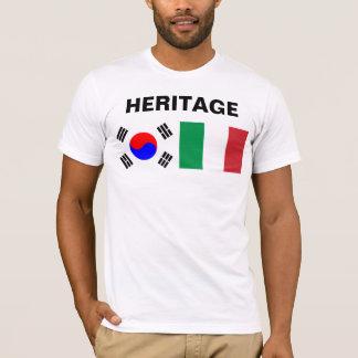 Camiseta Parcialmente coreano, parcialmente italiano