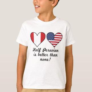 Camiseta Parcialmente peruano é melhor do que nenhuns