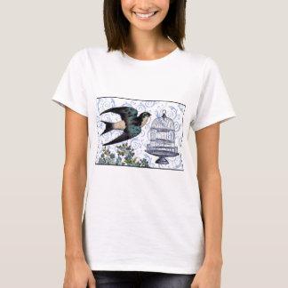 Camiseta Pardal & gaiola do vintage