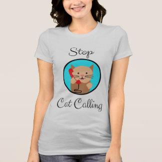 Camiseta Pare a chamada do gato, o feminismo e os direitos