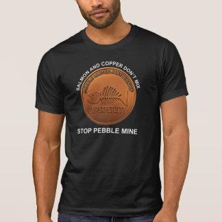 Camiseta Pare a mina do seixo - moeda de um centavo da mina