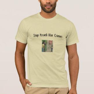 Camiseta Pare crimes de guerra israelitas