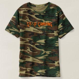 Camiseta Pare de acampar você t-shirt de Noob v4 Camo