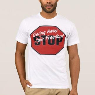 Camiseta Pare de dar afastado toda sua liberdade