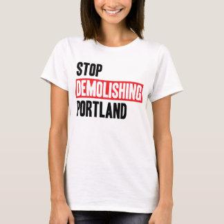 Camiseta Pare de demulir Portland - cores claras, mulheres