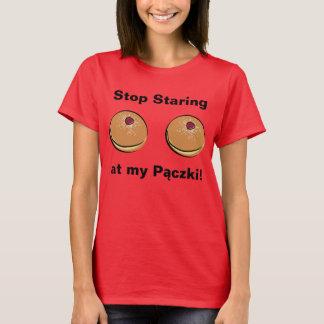 Camiseta Pare de olhar fixamente em meu Paczki!