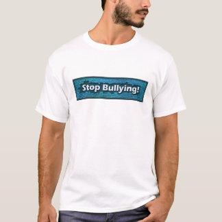 Camiseta Pare de tiranizar o t-shirt azul do tijolo
