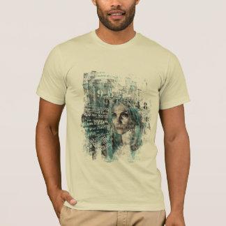 Camiseta pare e olhe fixamente (a adaptação da pintura)