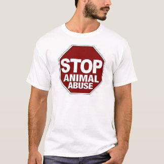 Camiseta Pare o abuso animal