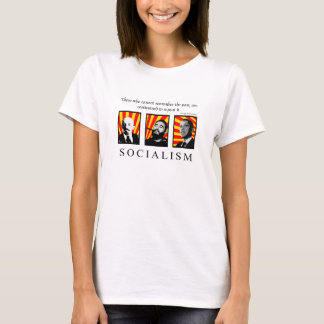Camiseta Pare o branco revisado socialismo