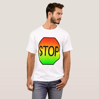 Camiseta Pare o sinal com cores do sinal de trânsito