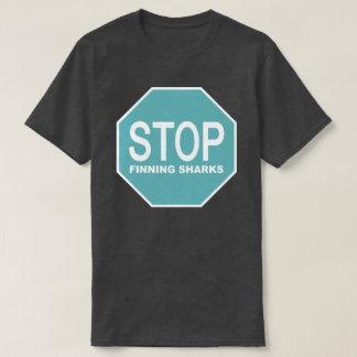 Camiseta Pare o sinal dos tubarões de Finning