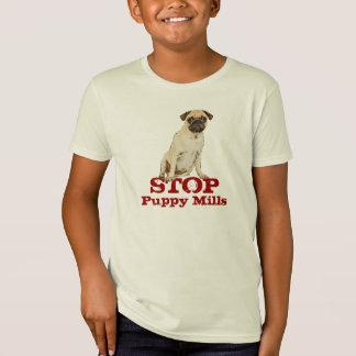 Camiseta Pare o t-shirt dos moinhos do filhote de cachorro