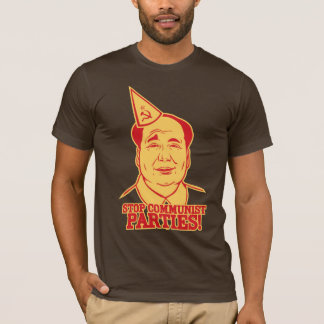 Camiseta Pare o t-shirt dos partidos comunistas