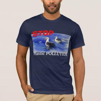 Camiseta PARE o t-shirt plástico da poluição