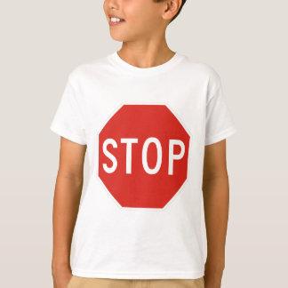 Camiseta Pare o tráfego do cuidado do símbolo do sinal de