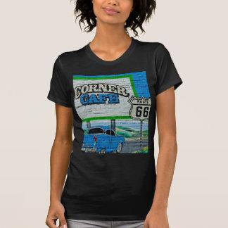Camiseta Parede de canto do café da rota 66