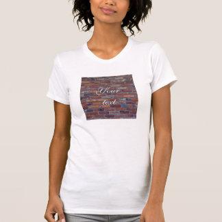 Camiseta Parede de tijolo - tijolos e almofariz misturados