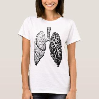 Camiseta pares de pulmões