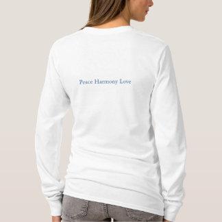 Camiseta Pares de t-shirt do amor da harmonia da paz dos
